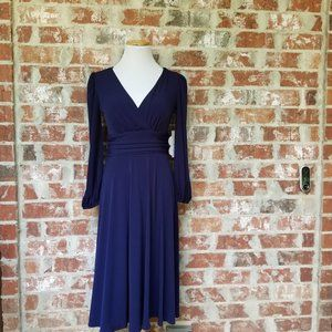 New Eliza J  fit and flare navy dress 4